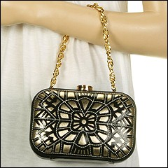 Rafe New York Laser Sasha Minaudiere (Black) - Evening Handbags :  laser sasha evening vintage