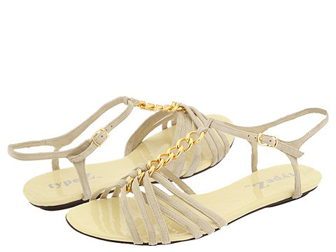 Type Z Jessika2 (Off-White) - Women's :  zappos chains metallic shoes