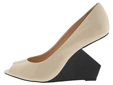 Pour La Victoire Lilia (Beige Patent) - Women's :  wedge zappos shoes patent leather