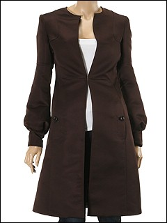 Just Cavalli - Long Dress Coat (Espresso) - Apparel