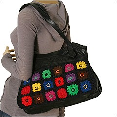 Lucky Brand Daisy Trippin' Macrame Satchel (Multi) - Handbags :  purse tote lucky brand lucky brand jeans