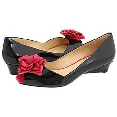 Via Spiga - Ego (Black/Peony Patent) - Footwear