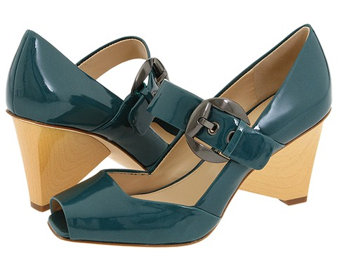 Via Spiga - Caramia2 (Teal Tumbled Patent) - Footwear