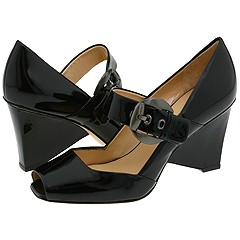 Via Spiga - Caramia2 (Black Tumbled Patent) - Footwear