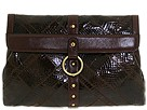 Frye - Emily Clutch (Brown Polished Calf/Snake) - Bags and Luggage
