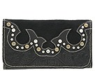 American West - Black Beauty Collection Trifold Wallet (Black) - Bags and Luggage
