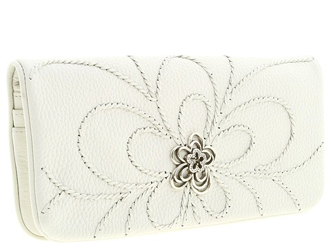 Brighton - Infinity Flower Organizer Clutch (White) - Bags and Luggage