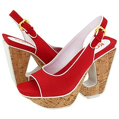 KORS Michael Kors Nigel (Red Nubuck) - Platforms :  kors michael kors nigel red nubuck - platforms red platforms