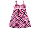 Hurley Kids - Woven Plaid Dress (Toddler) (Soft Pink) - Apparel