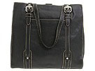 Fossil - Executive Soft Glazed Leather North South Tote (Black) - Bags and Luggage