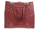Fossil - Executive Soft Glazed Leather North South Tote (Red) - Bags and Luggage