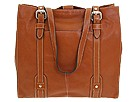 Fossil - Executive Soft Glazed Leather North South Tote (Cognac) - Bags and Luggage