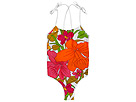 D&G Junior - Vintage Hawaii One-Piece Swimsuit (Toddler/Little Kids/Big Kids) (Pink) - Apparel