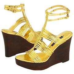 Ralph Lauren Collection Elliana (Gold Metallic Nappa) - Women's Designer Collection :  ralph lauren metallic designer collection
