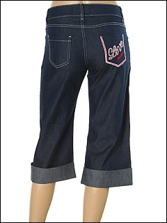 Moschino - Denim Capri With Folded Cuff (Denim) - Apparel