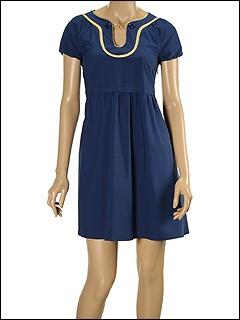 Moschino - Cotton Poppin Cap Sleeve Dress (Navy) - Apparel