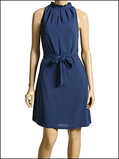 Moschino - Dress With Self Belt (Blue) - Apparel
