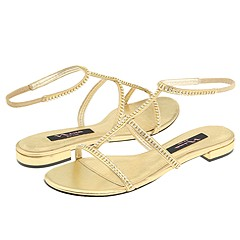 Detra Gold Sandals by Nina - Open Fashion