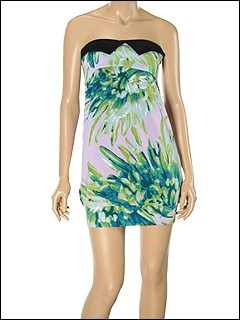 Just Cavalli - TO645848380S635 Mini Dress (Sea Green) - Apparel