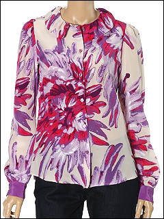 Just Cavalli - TO665548379S017 Blouse (Lavender) - Apparel