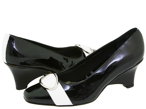 Ros Hommerson - Spa (Black Patent/White Nappa) - Footwear
