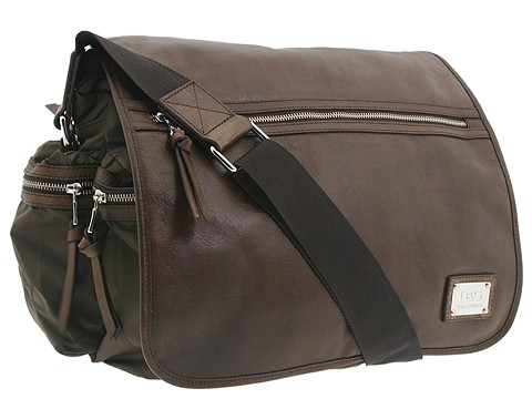 D&G Dolce & Gabbana - Nylon Messenger Bag (Light Brown) - Bags and Luggage