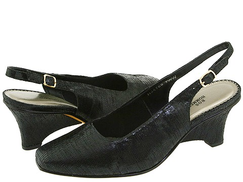 Ros Hommerson - Summer (Black Lizard Print Leather) - Footwear