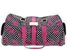 Betseyville Handbags - Polka Bow Betsey Weekender (Black) - Bags and Luggage