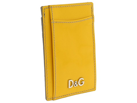 D&G Dolce & Gabbana - Logo Credit Card Holder (Yellow) - Bags and Luggage