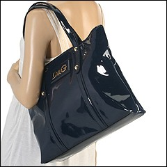 D&G Dolce & Gabbana - Estelle Tote (Navy Blue) - Bags and Luggage