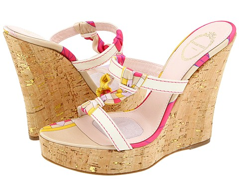 Emilio Pucci - 793919 (Pink Multi Satin) - Footwear