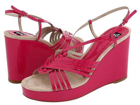 D&G Dolce & Gabbana - Estelle Wedge (Pink) - Footwear