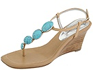 Jessica Simpson - Hogan (Cognac Leather/Turquoise) - Footwear