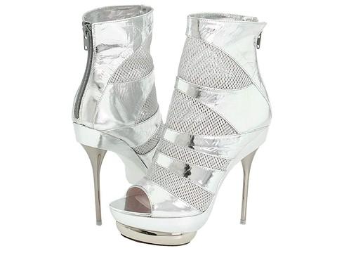 Emilio Pucci - Pat Net Ot Boot (Silver Patent) - Footwear