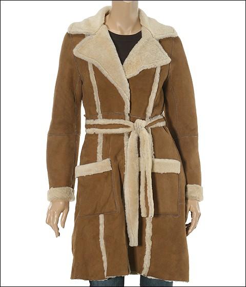 UGG - Shearling 3/4 Coat (Chestnut) - Apparel