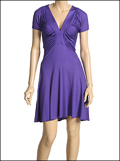 Just Cavalli - Ribbed Jersey Dress (Purple) - Apparel