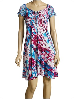 Just Cavalli - Stretch Jersey Dress (Multicolored) - Apparel