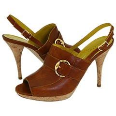 Bettye Muller Callback (Brown With Mustard) - Women's Designer Collection :  mustard brown designer collection