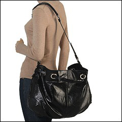Francesco Biasia - Allison - Medium Double Handleshoulder Bag (Black) - Bags and Luggage