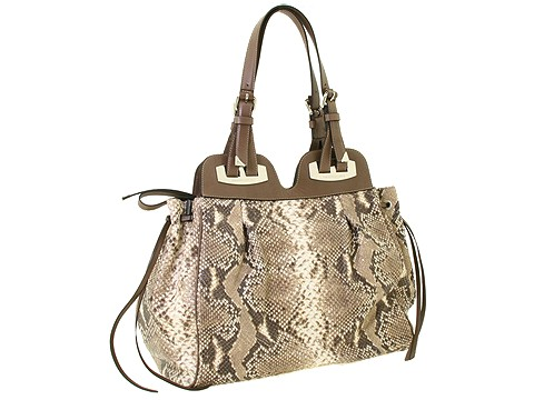 Francesco Biasia - Ella - Large Double Handle Tote (Roccia (Python Print)) - Bags and Luggage