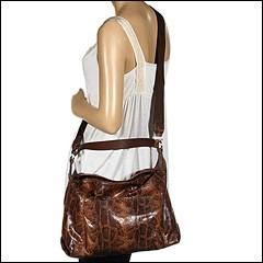 Furla Handbags - Beth Sacca Piccola (Cognac/Charcoal) - Bags and Luggage