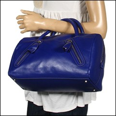 Furla Handbags - Carmen Zipper Bauletto Medio (Royal Blue) - Bags and Luggage