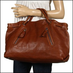 Furla Handbags - Carmen Zipper Shopper Gigante (Cognac) - Bags and Luggage