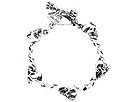 King Baby Studio - Integrated Skull Bracelet With Rose Detail (Sterling Silver) - Jewelry