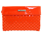 Calvin Klein - Liquid Leather Woven Wristlet (Tangerine) - Bags and Luggage