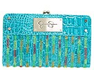Jessica Simpson - Smarties Soft Clutch (Malibu Croco) - Bags and Luggage