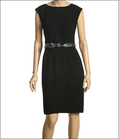 ABS Allen Schwartz - Fitted Crepe Dress w/ Waist Darts (Black) - Apparel