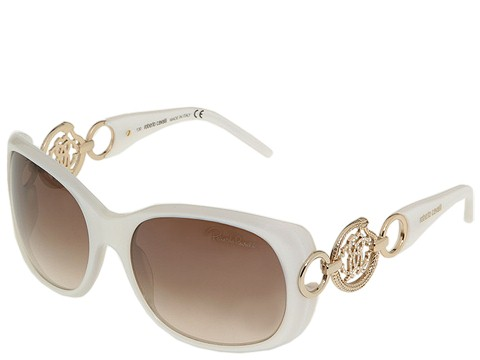 Roberto Cavalli - RC446S (Pearl White/Gradient Brown Lenses) - Eyewear