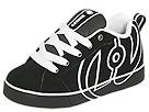 Heelys - No Bones Lo (Toddler/Youth/Adult) (Black/White) - Footwear