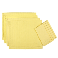 Highbury - Classic Solid Placemat Napkin Set of 4 (Daffodil) - Home